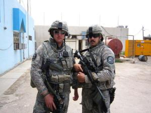 Adam and Kenton in Iraq