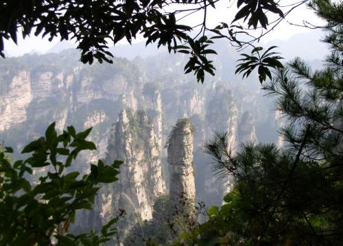Rock formations of Wulingyuan National Park in northern Hunan.