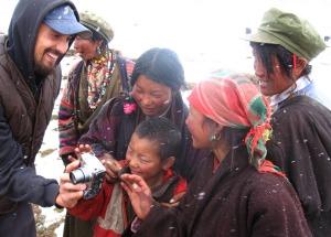 Photographer Tom Carter in Kham, eastern Tibet.