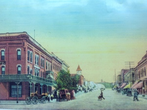 Old postcard of Main Street, Minot. Provided by Mark Lehner.