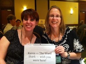 Lara and Stacy at a great conference (not in Vegas).