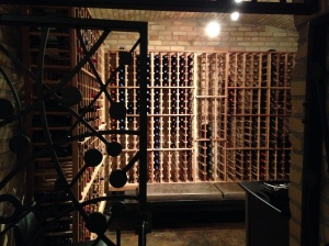 Wine cellar at the Hotel Donaldson