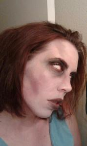 My zombie friend, Megan.