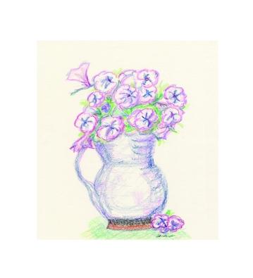 Vase of Pansies